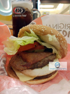 A&W Batam Center Mozza Burger
