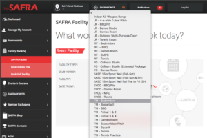 how to book safra badminton court
